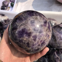 Dream Amethyst ball Natural quartz crystal spheres for sale