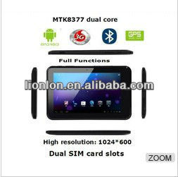 Latest 7 inch MTK8377 tablet ATV bluetooth android 4.0 tablet pc with 3G GPS(M7)