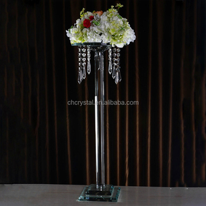MH-TZ0326 wedding decoration flower stand crystal