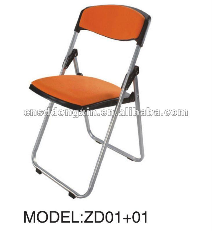 Meeting room used metal plastic folding chairs with cushion ZD01+01