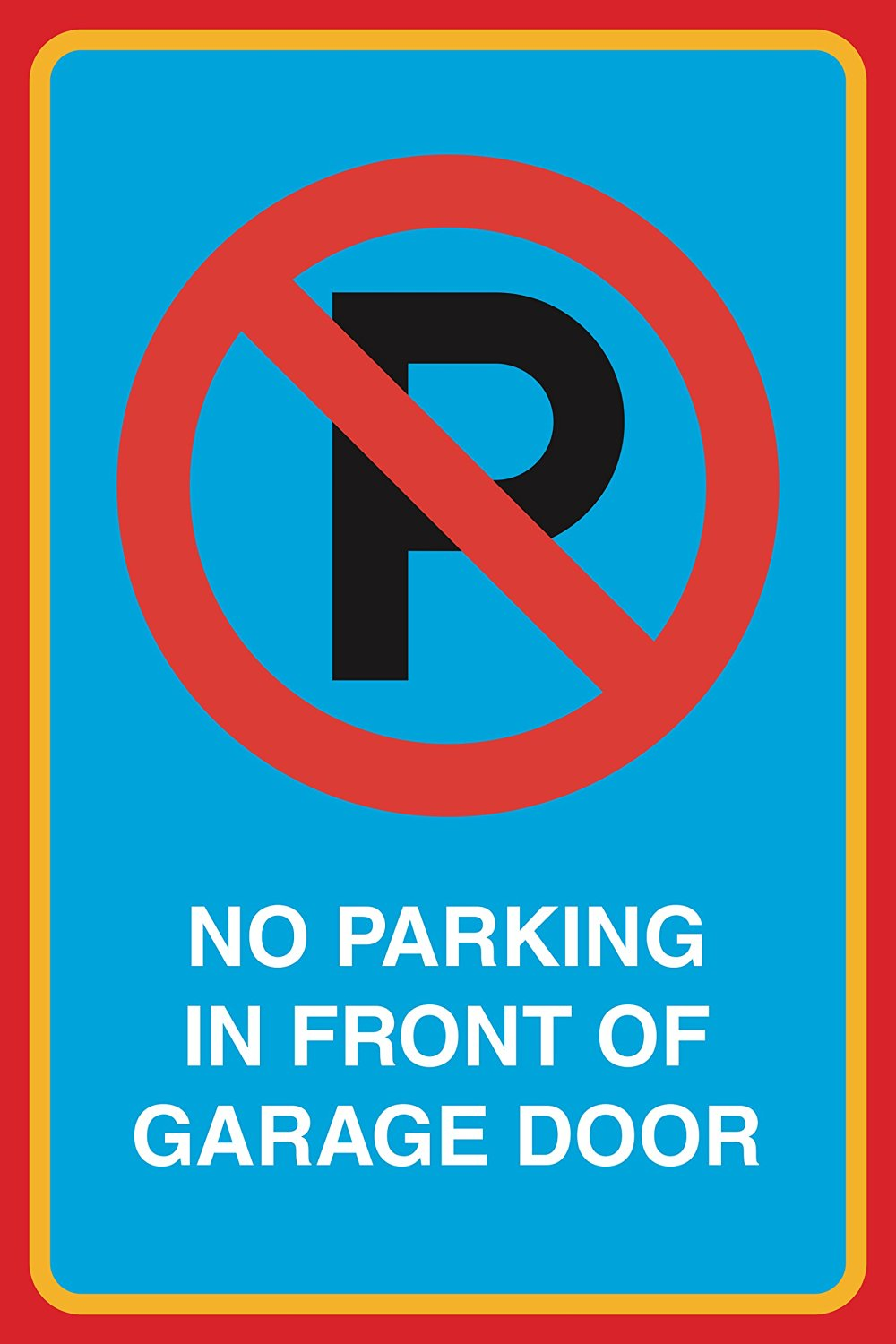 12x18 No Parking in Front of Gate Large Print Red Black White Poster Car Picture Symbol Notice Business Home Sign