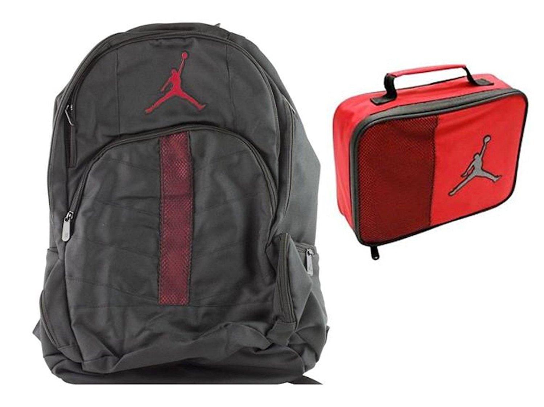 Nike Air Jordan Jumpman 23 Black Backpack Red Lunch Tote + FREE Cell Phone  Plug e0180efa528e6