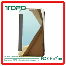 Anti shock Luxury Electroplating Plating panel Smart Flip Mirror view flip cover mobile phone case for Huawei mate8 P9 RIO-AL00