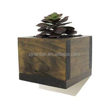 Custom Vintage Wall Planter Bo Square Wood Flower Pots