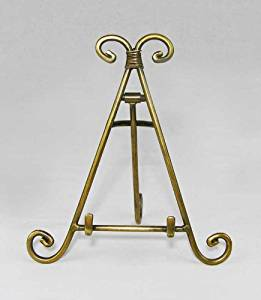 Easels, Decorative Easels from Easels by Amron, 7 Inches High (Antique Brass)