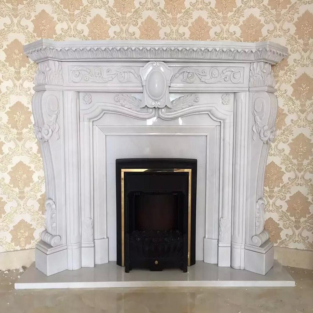 La decoraci n del hogar elegante natural indoor marmol - Chimeneas en guadalajara ...