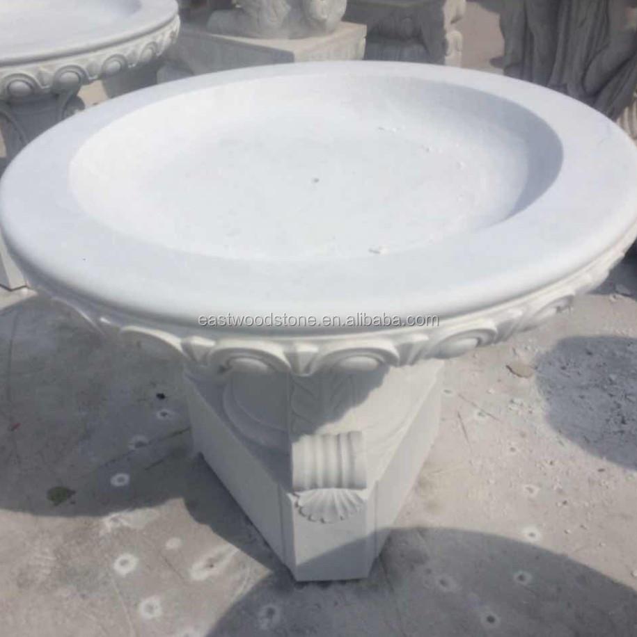 Белый нефрит Мраморный каменный цветок кровать для квадратный