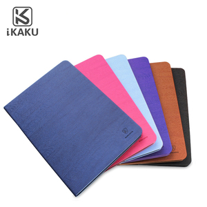 Kaku brand wholesale custom pu leather flip 9.7 inch smart ultra thin flip stand cover case for ipad air 2 tablet case