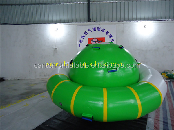 Inflatable rocking saturn, saturn inflatable boats for water games