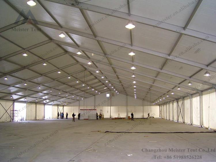 Estrutura de alumínio para armazém temporário exterior de 20x30m