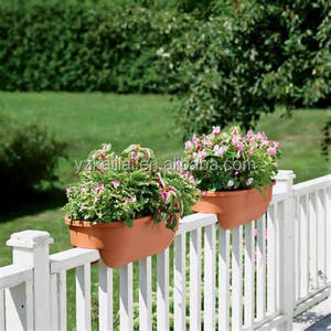 On sale Kailai deck rail planter box, color clay/garden pots/garden supplies