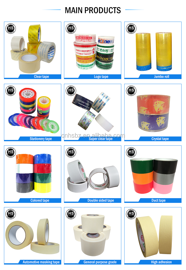 alibaba best sellers Sealing for Box Package, Storage and Moving colorful Jumbo roll from jiaozuo