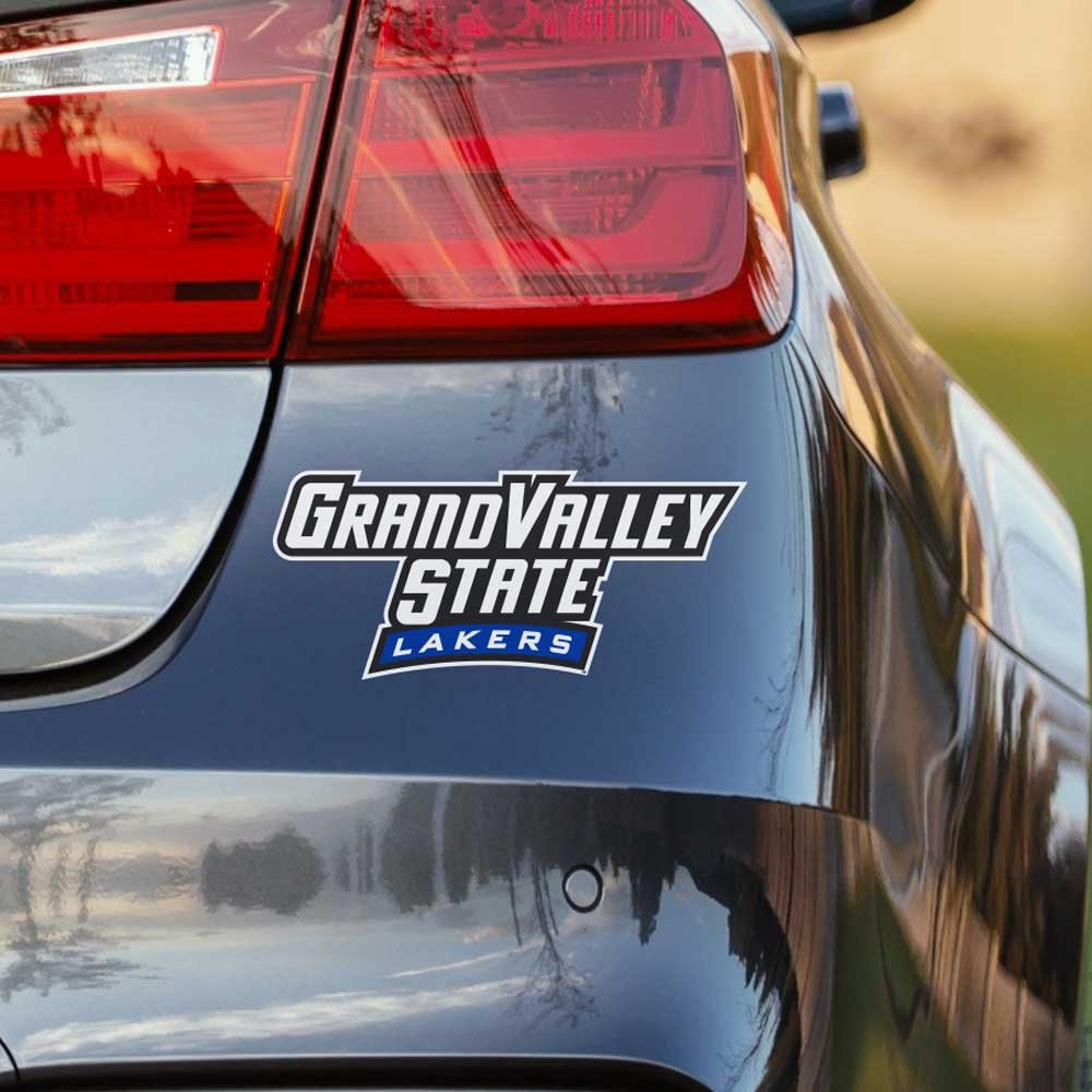 Get quotations · nudge printing grand valley state university gvsu lakers long car window decal bumper sticker emblem laptop