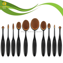 Profeesional 10pcs Oval Makeup Brush Set