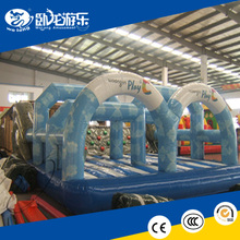EN14960 kids obstacle course, inflatable obstacle