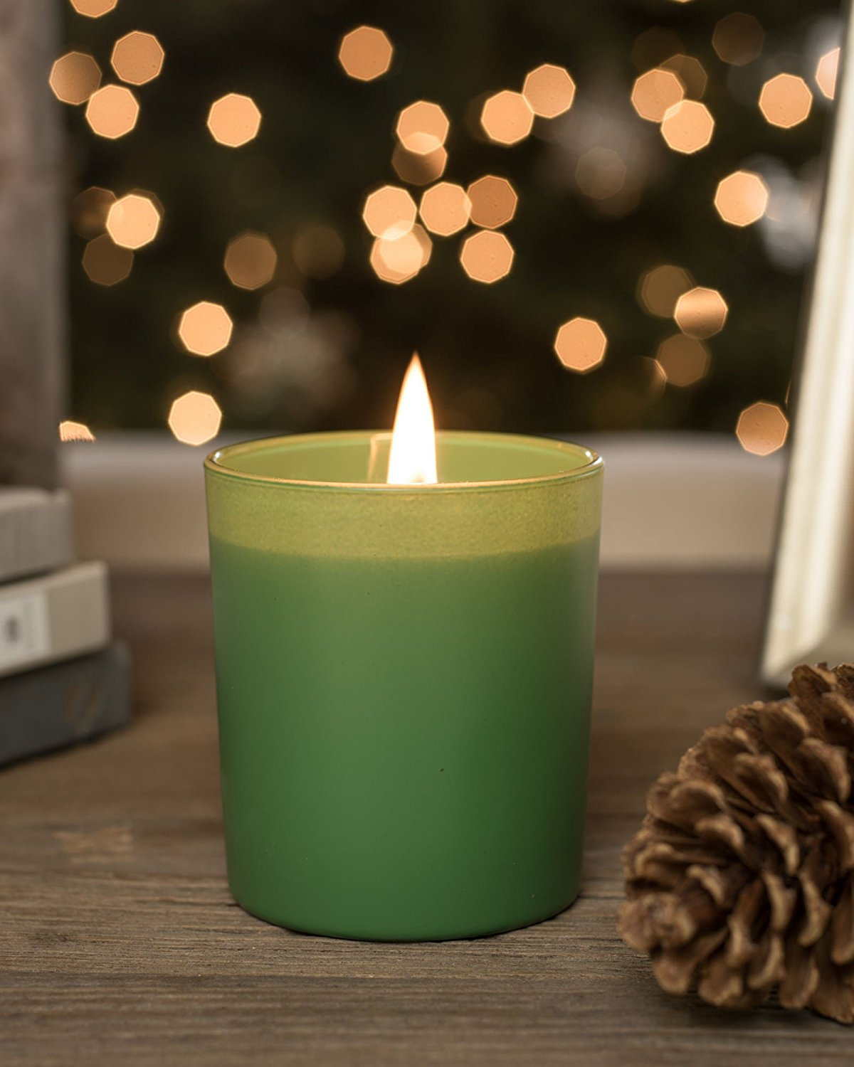 "Balsam Hill Fir Forest Scented Italian Candle | Green | 4.1"" High 