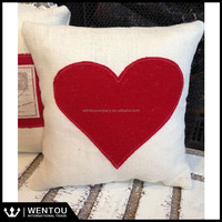 Red Heart Valentine Decorative Throw Pillow