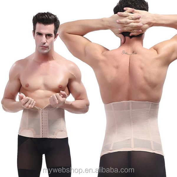Mens Body Shaper Posture Compression Waist Trainer Abdomen Belt