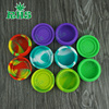 Non Stick Silicone Jars Round Shape 22ML 55mmX28mm Dab Wax Vaporizer Oil Silicone Container In Stock