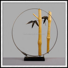 New Produce 2017 Resin Bamboo Craft With custom made figurine For Living Traditions Home Decor