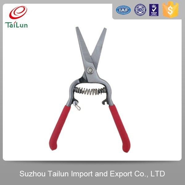 High Quality 50# High Carbon Steel Fruit Picking Scissors With Red PP+TPR Grip Handle