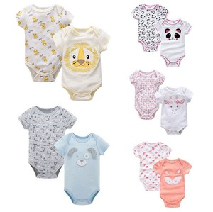 Cute Design Infant Bodysuit Outfits Clothes Baby Romper Set for Summer