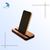 Best selling customized logo printing wood car phone holder