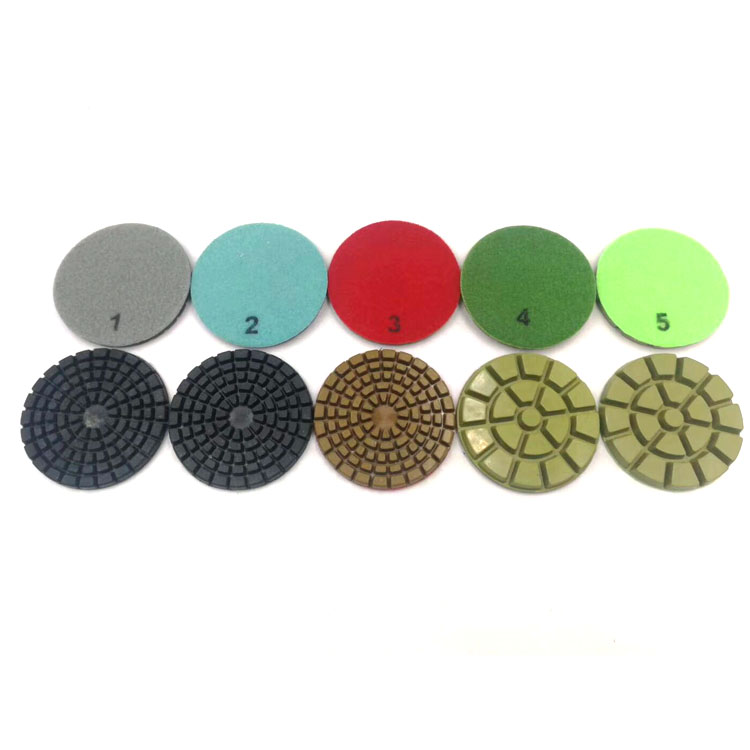 Klindex Diameter 3 inch or 4 inch Granite Marble Floor Diamond Polishing Pads With Good Polishing Result