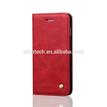 Mobile accessories vintage wallet PU leather flip mobile phone case for iphone 6s plus