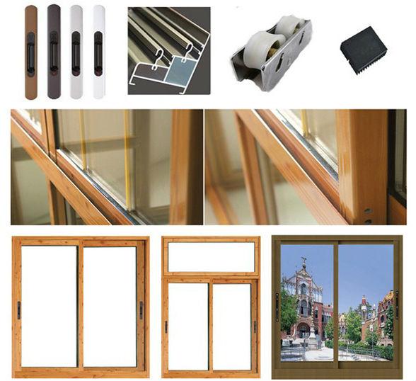 High Quality Brown Aluminium Window Frames Manufacturer