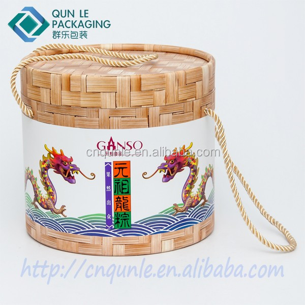 New Style Cylinder Decorative Cardboard Boxes with Portable Rope Wholesale