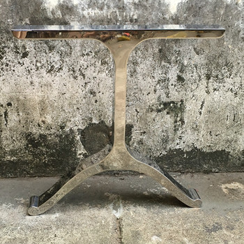 Furniture Manufacturer Metal Material And Table Use U Shaped Stainless Steel  Brass Table Legs