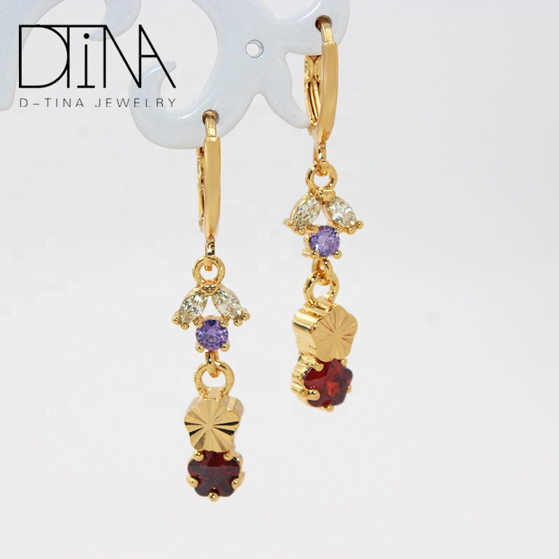 DTINA Boutique Cheap Jewelry Drop Etsy Handmade Earrings for women, Golden
