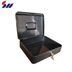 Different size square shape cold rolling steel portable small money cash safe box