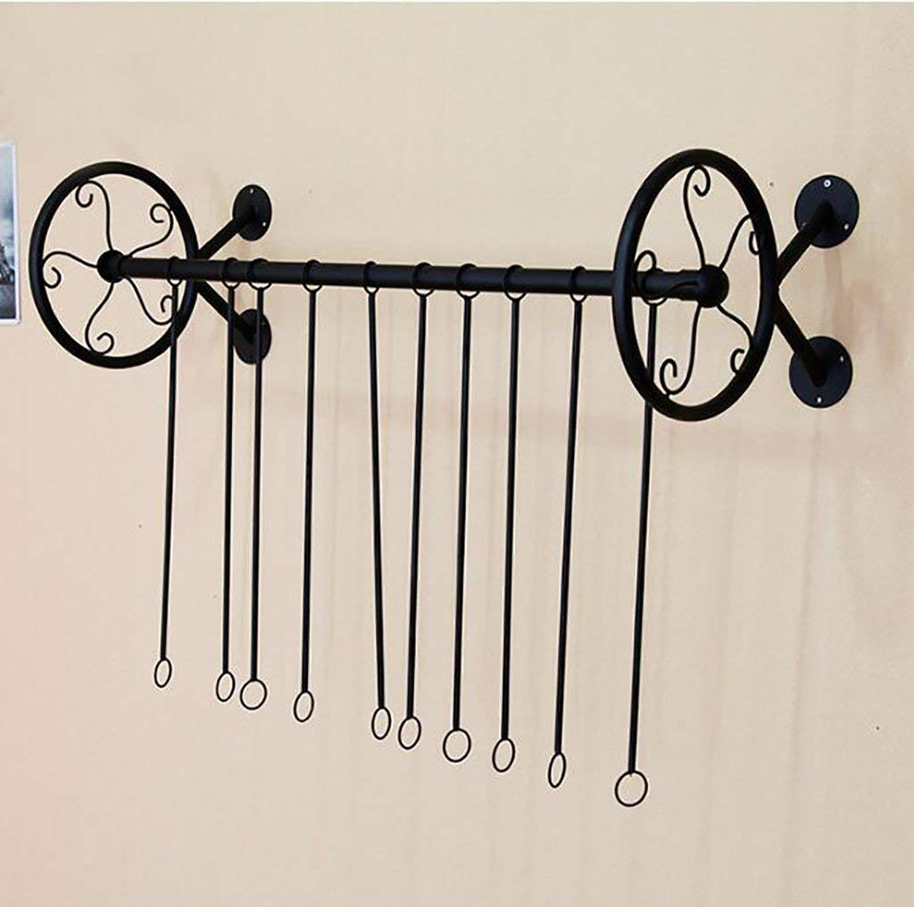 Ymj Wall clothes rack/men and women shop shelves wall/iron clothing shelves (Color : A, Size : 100cm)