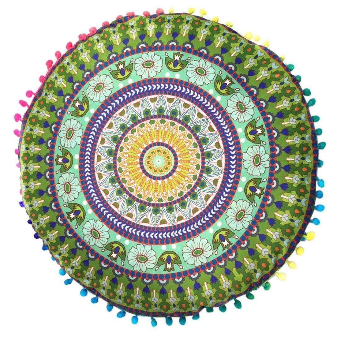 FDelinK Clearance! Mandala Floor Round Cushions Pillows Cover Case Indian Hippie Decorative Zipped Bohemian Pouf