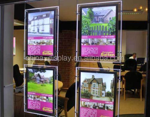 Bord lumi re acrylique signe acrylique panneau for Panneau publicitaire exterieur prix