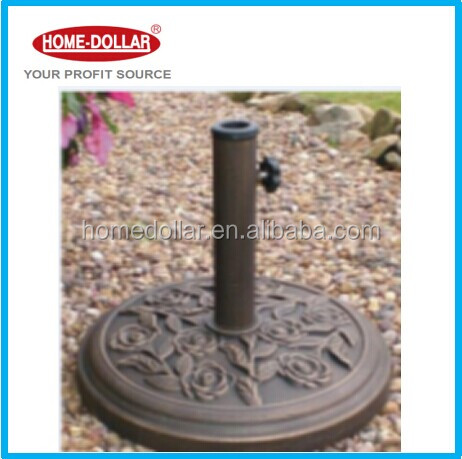 cast iron base for garden parasol and patio unbrellas