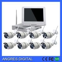 8CH 1080p 2mp Wireless Surveillance Camera System lcd monitor tv IP Camera NVR Combo