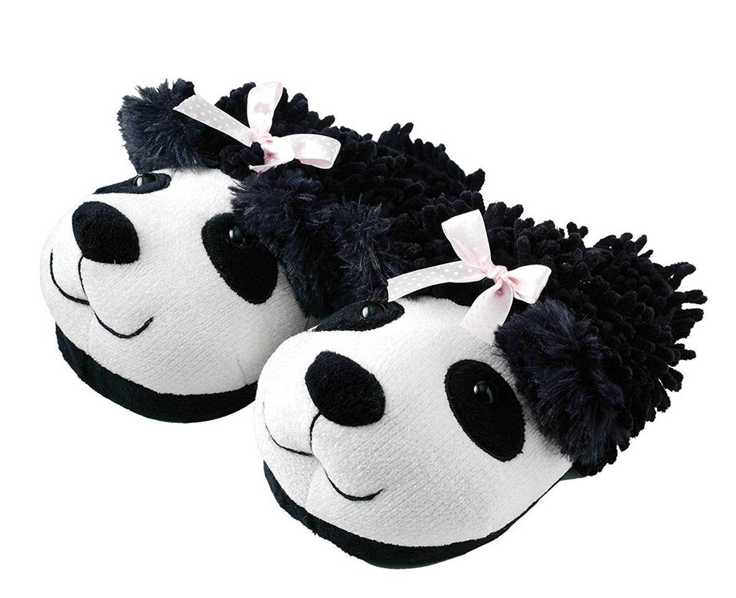 988d8df2f196f Get Quotations · Animal World - Panda Fuzzy Friends Unisex Adult Size  Slippers