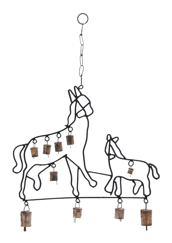 Harvey & Haley Durable Design Metal Horse Wind Chime