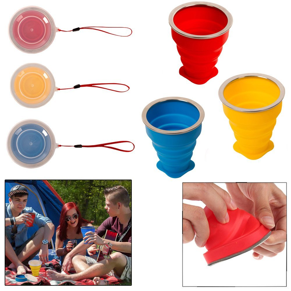 silicone folding cup silicone coffee cup with cover collapsible measuring cup