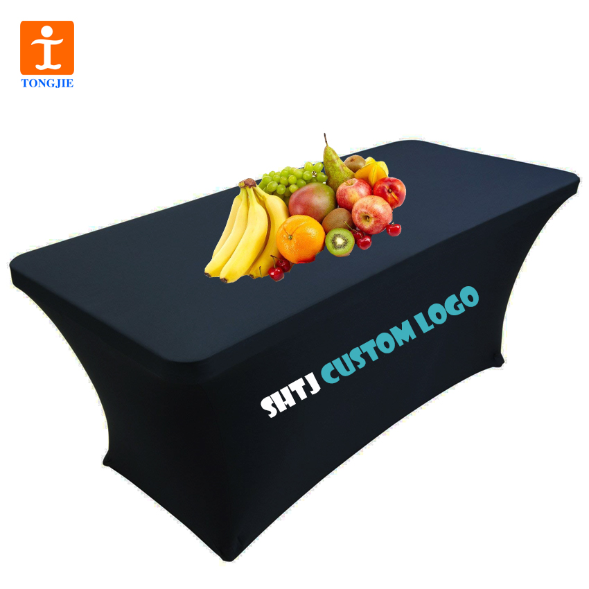 Custom Colour Logo Knitted Polyester Table Cloth