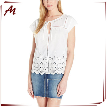 20eb21a6dfe01f Clothing Manufacturer Wholesale Women s Cotton White Tops Ladies Tops  Latest Design