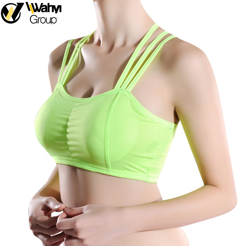 Women's Fitness Sleeveless Backless Across Shirts Quick-Dry Camis Tank Tops With Padded