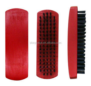 Red wooden handle pig hair shoe brush