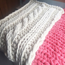 diy cable blanket in merino wool arm knitting merino wool blanket