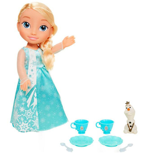 Frozen Elsa Doll Princess Tea Time with Olaf Doll + Tea Cup Set