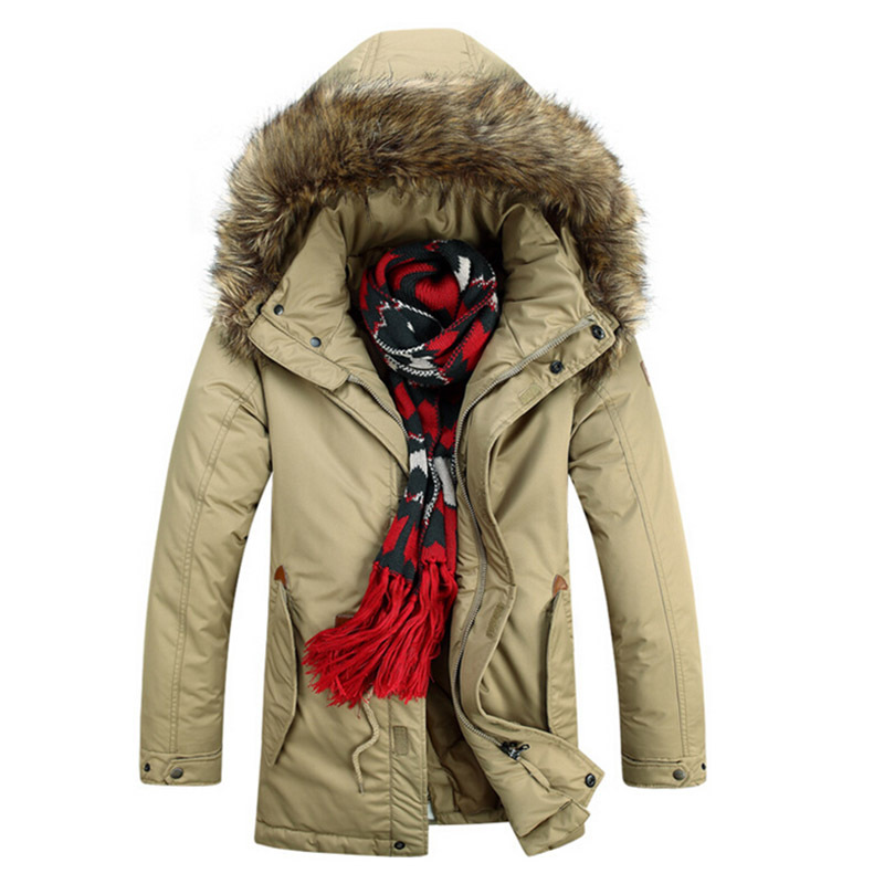 70f9134af6f Get Quotations · New Fashion Parkas Men Causal Outdoors Cotton Thick Warm Fur  Coats Hooded Wadded 2015 Jackets Winter