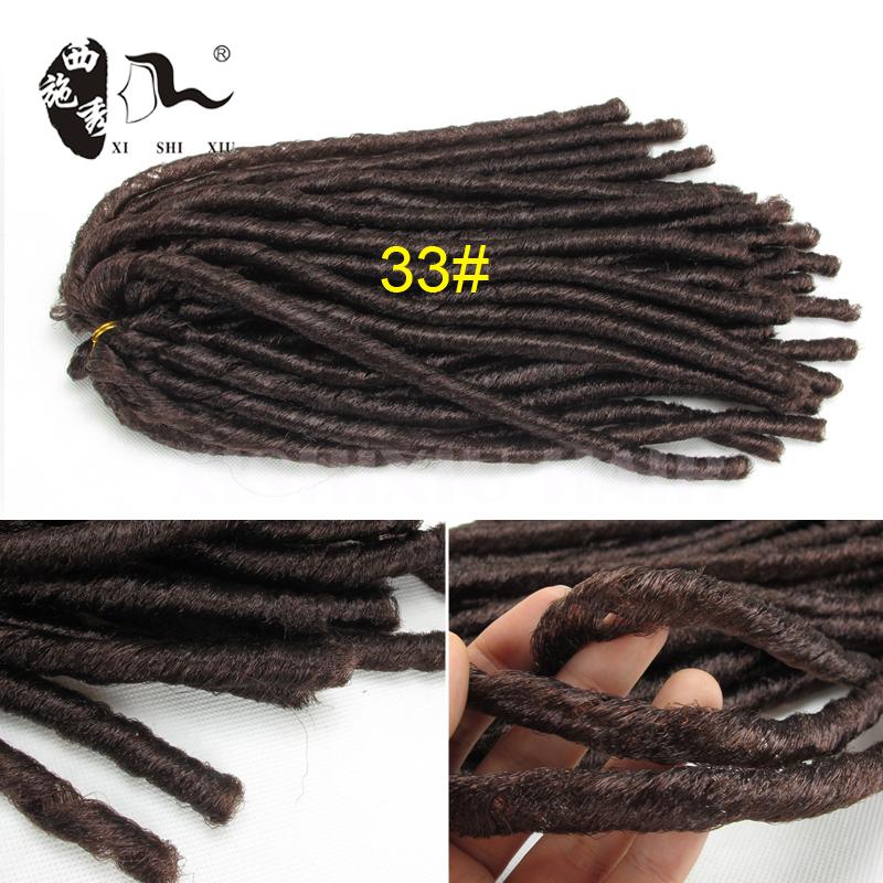 Wholesale Dread Lock Hair Dread Faux Locs Braids Crochet Havana